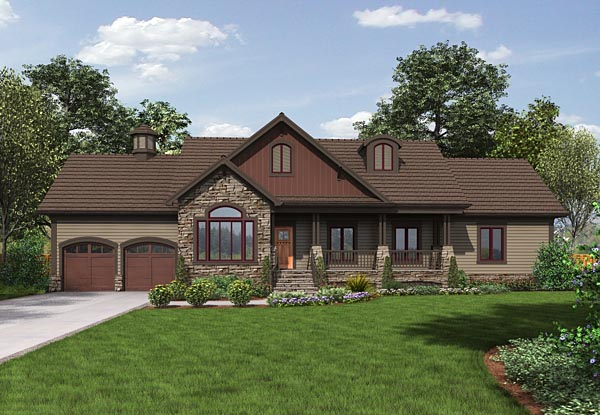 Cottage Country Traditional House Plan 74852 Elevation