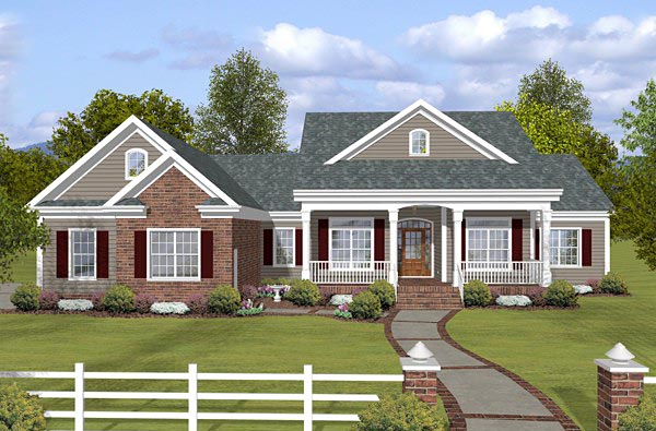 Country Traditional House Plan 74853 Elevation