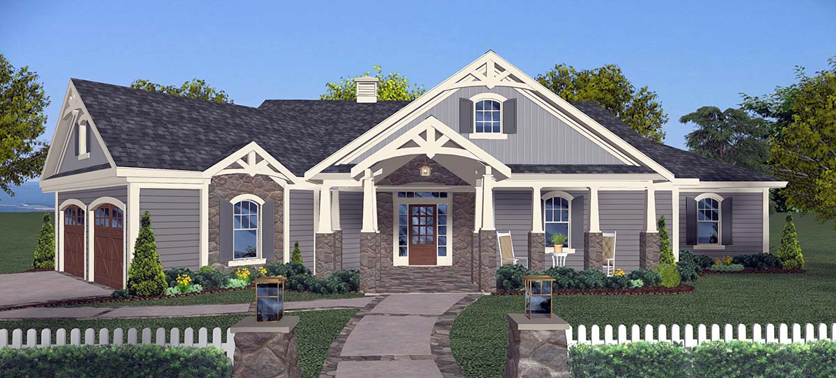 Ranch Style House Plan 74865 with 3 Bed, 3 Bath, 2 Car Garage on ranch house angled garage, cape cod house angled garage, mediterranean house angled garage, carpenter house angled garage, craftsman house plans with garage, house plans with basement garage, craftsman house front garage, house plans with angled garage, craftsman houses with garages attached, back toward house with angled garage,