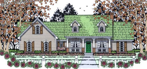 Traditional House Plan 75015