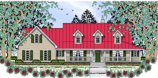 Farmhouse House Plan 75045