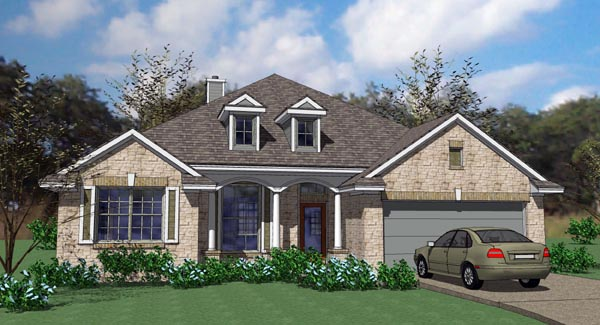 Cottage Country Traditional House Plan 75101 Elevation