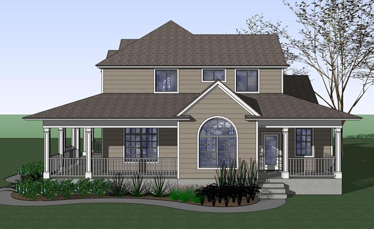 Country, Farmhouse, Victorian House Plan 75102 with 3 Beds, 3 Baths Picture 2