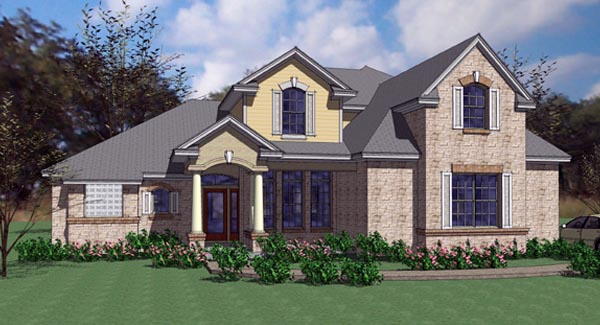 Contemporary European Modern House Plan 75104 Elevation