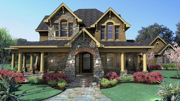 Country craftsman tuscan house plan 75106 for Country craftsman house plans