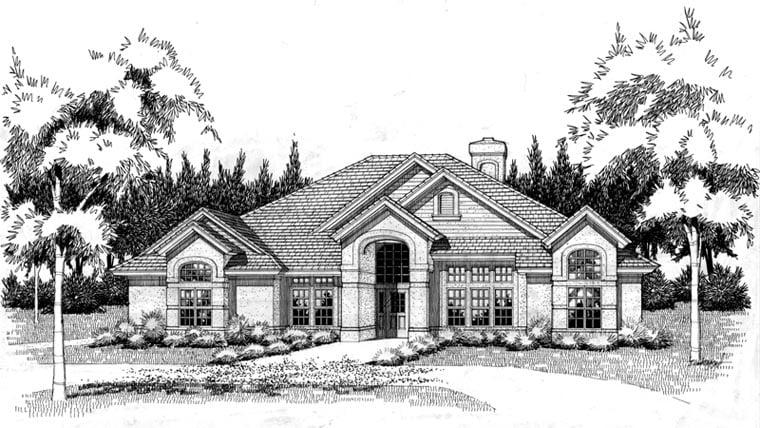 Coastal Contemporary Modern House Plan 75108 Elevation