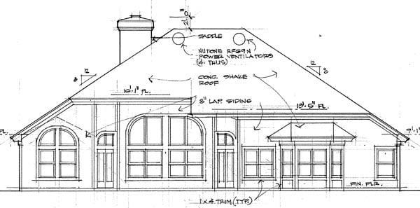 Coastal Contemporary Modern House Plan 75108 Rear Elevation