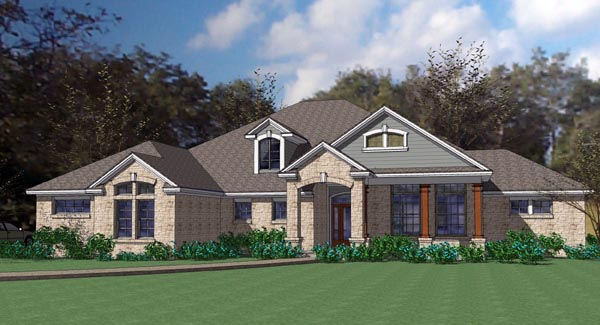 Coastal Contemporary Modern House Plan 75109 Elevation
