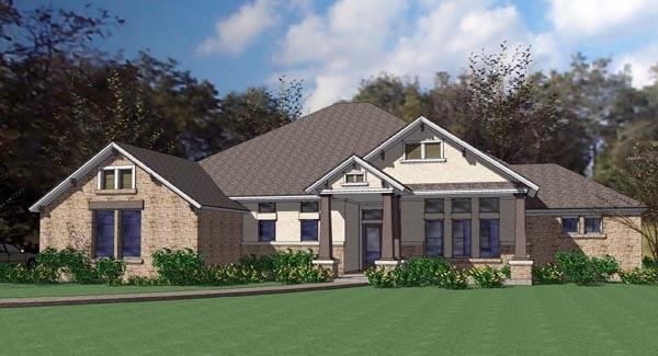 Coastal Contemporary Modern House Plan 75110 Elevation