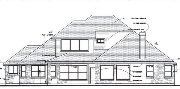 Coastal Contemporary Modern House Plan 75110 Rear Elevation