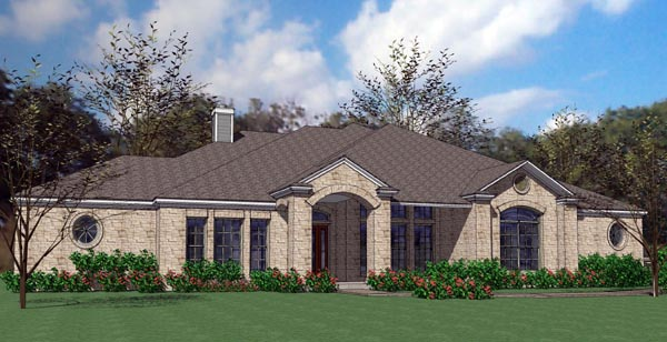 Colonial Traditional House Plan 75115 Elevation