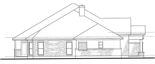 Colonial, Traditional House Plan 75117 with 3 Beds, 3 Baths, 3 Car Garage Picture 1