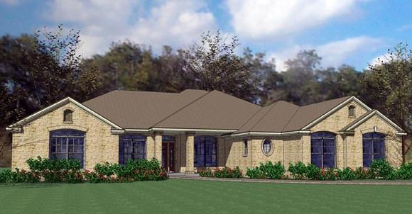 Colonial, Traditional House Plan 75118 with 4 Beds, 4 Baths, 2 Car Garage Elevation