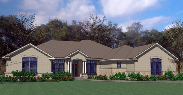 Colonial Traditional House Plan 75120 Elevation