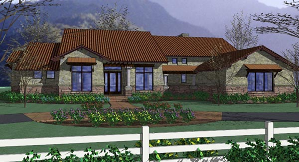 Coastal, Tuscan House Plan 75121 with 3 Beds, 3 Baths, 3 Car Garage Elevation