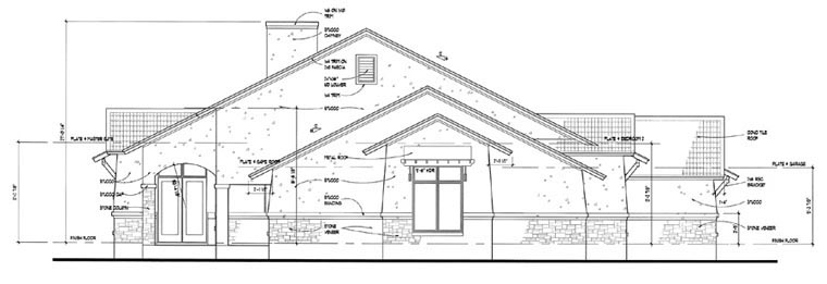 Coastal, Tuscan House Plan 75121 with 3 Beds, 3 Baths, 3 Car Garage Picture 1