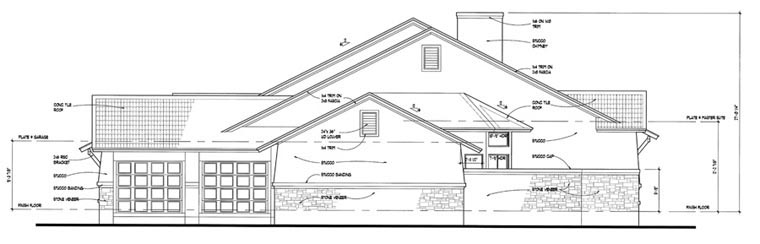 Coastal, Tuscan House Plan 75121 with 3 Beds, 3 Baths, 3 Car Garage Picture 2