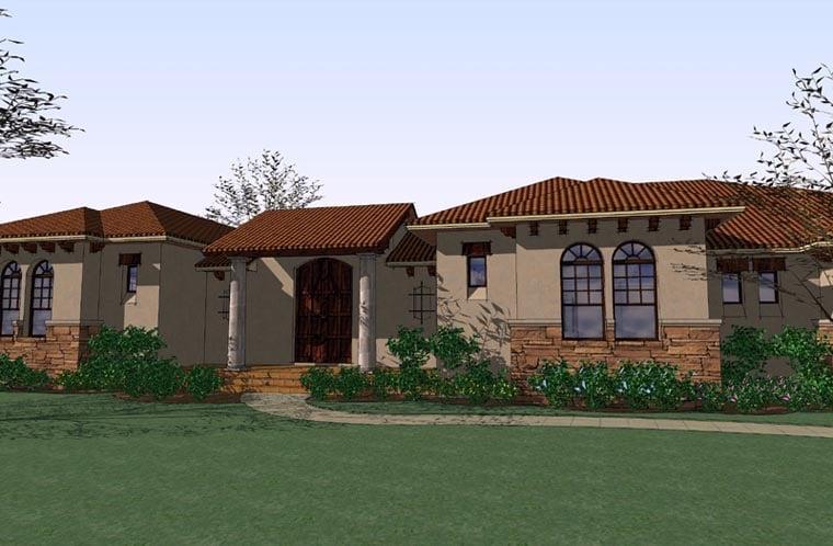Italian Mediterranean Traditional House Plan 75123 Elevation