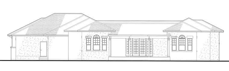 Italian Mediterranean Traditional House Plan 75123 Rear Elevation