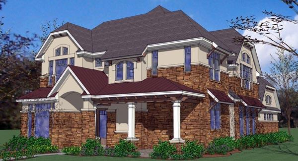 Coastal Contemporary Florida House Plan 75125 Elevation