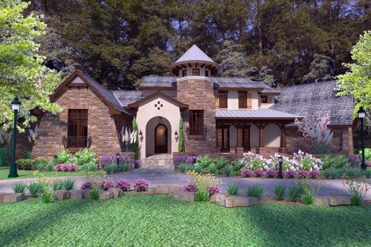 Craftsman Tuscan House Plan 75132 Elevation