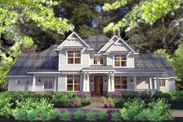Country Farmhouse Southern Traditional Victorian House Plan 75133 Elevation