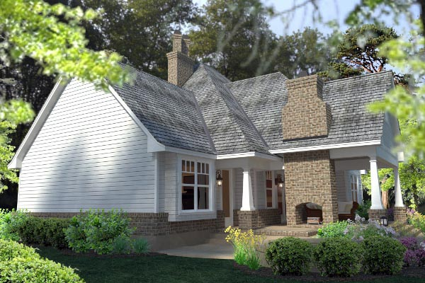 Country Farmhouse Southern Traditional Victorian House Plan 75133