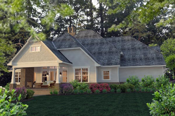 Country Farmhouse Southern Traditional Victorian House Plan 75133 Rear Elevation