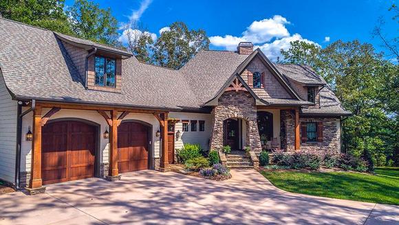 Cottage, Craftsman, Tuscan House Plan 75134 with 4 Beds, 4 Baths, 2 Car Garage Elevation