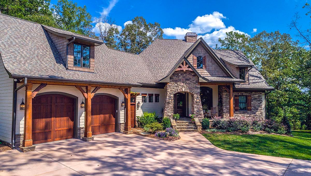 Awesome Cottage Craftsman French Country House Plan 75134 Elevation Awesome Ideas