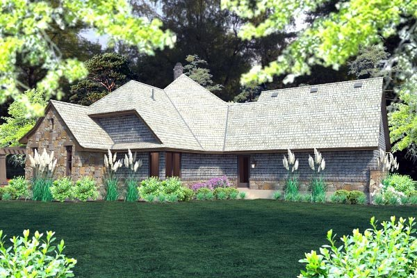 Cottage, Craftsman, Tuscan House Plan 75134 with 4 Beds, 4 Baths, 2 Car Garage Picture 63