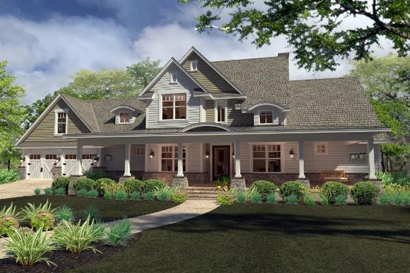 Country, Farmhouse, Southern House Plan 75138 with 3 Beds, 3 Baths, 2 Car Garage Elevation