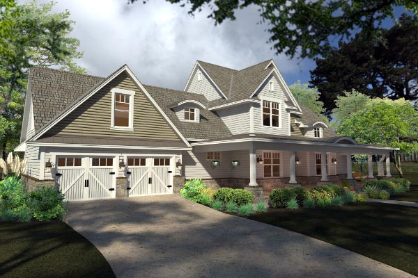 Country, Farmhouse, Southern House Plan 75138 with 3 Beds, 3 Baths, 2 Car Garage Picture 1
