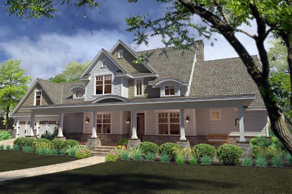 Country, Farmhouse, Southern House Plan 75138 with 3 Beds, 3 Baths, 2 Car Garage Picture 2