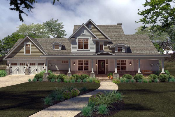 Country, Farmhouse, Southern House Plan 75138 with 3 Beds, 3 Baths, 2 Car Garage Picture 3