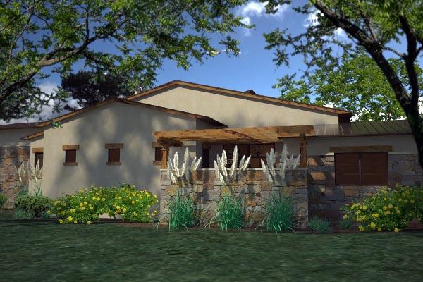 Contemporary Florida House Plan 75139