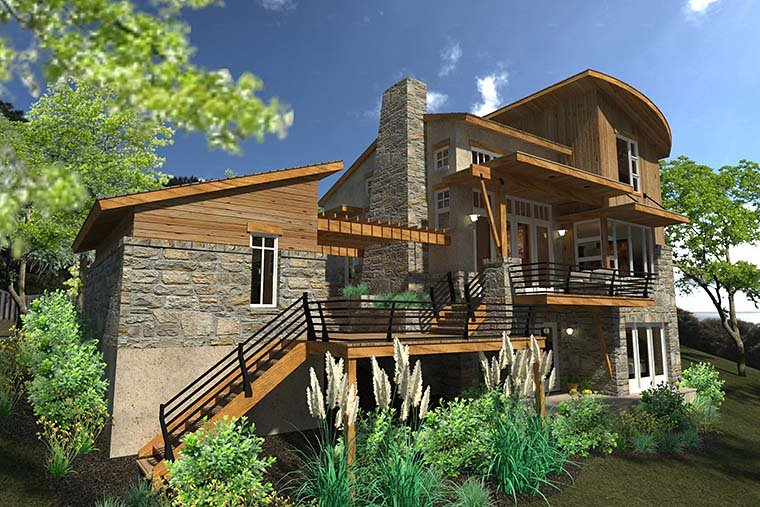 Contemporary, Cottage, Craftsman, Modern, Tuscan House Plan 75140 with 2 Beds, 2 Baths, 1 Car Garage Picture 3