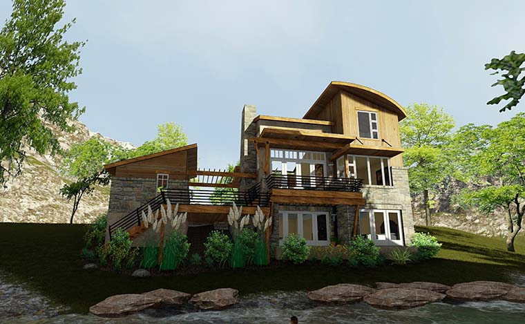 Contemporary, Cottage, Craftsman, Modern, Tuscan House Plan 75140 with 2 Beds, 2 Baths, 1 Car Garage Picture 5