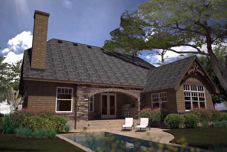 Cottage Country Craftsman House Plan 75141