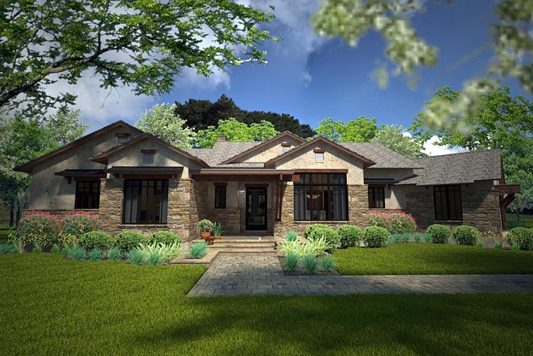 Southwest Style House Plan 75143 With