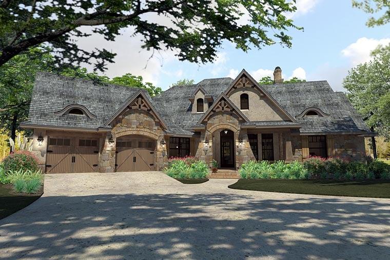 Craftsman Traditional Tuscan House Plan 75144 Elevation