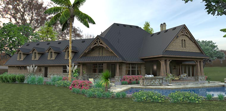 Country, Craftsman, Tuscan House Plan 75145 with 3 Beds, 2 Baths, 2 Car Garage Picture 5