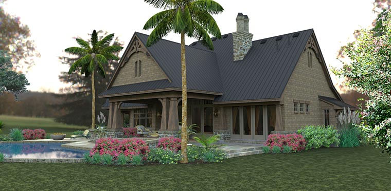 Country, Craftsman, Tuscan House Plan 75145 with 3 Beds, 2 Baths, 2 Car Garage Picture 6