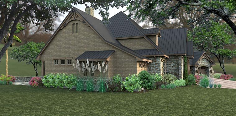 Country, Craftsman, Tuscan House Plan 75145 with 3 Beds, 2 Baths, 2 Car Garage Picture 7