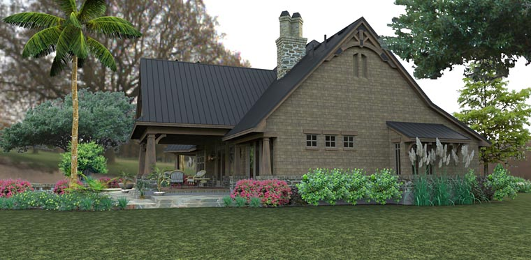 Country, Craftsman, Tuscan House Plan 75145 with 3 Beds, 2 Baths, 2 Car Garage Picture 8