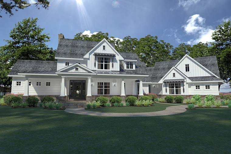Country Farmhouse Southern House Plan 75148 Elevation