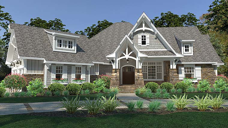 Cottage Craftsman European Farmhouse House Plan 75149 Elevation