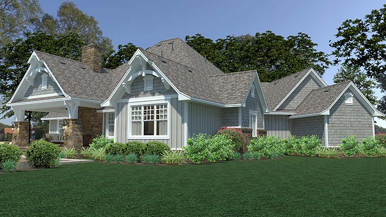 Cottage Craftsman European Farmhouse House Plan 75149