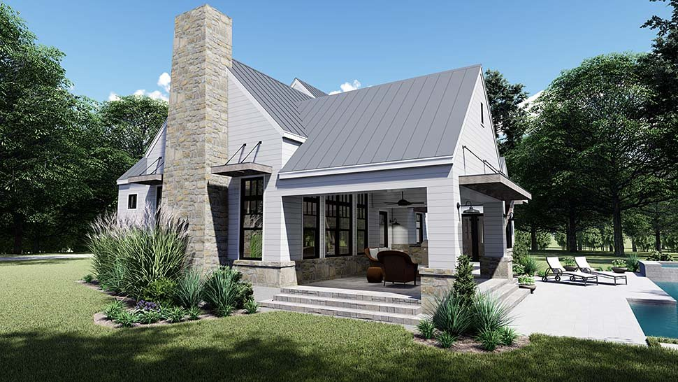 Cottage, Country, Farmhouse, Southern House Plan 75155 with 4 Beds, 4 Baths, 2 Car Garage Picture 1