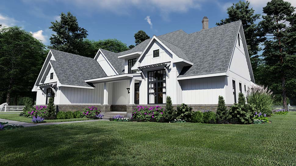 Country, Farmhouse, Southern House Plan 75156 with 4 Beds, 4 Baths, 2 Car Garage Picture 2